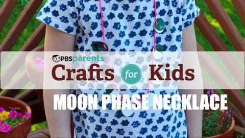 Crafts for Kids -- Moon Phase Shrinky Dink Necklace