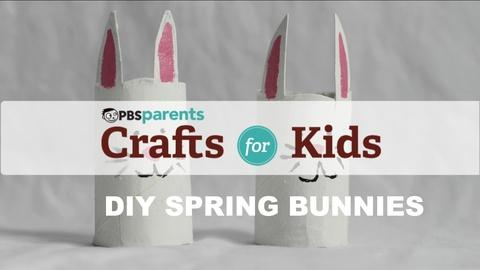 Crafts for Kids -- Cardboard Spring Bunnies