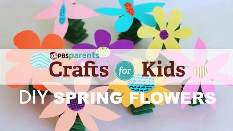 Crafts for Kids -- Spring-y Flowers