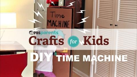 Crafts for Kids -- DIY Cardboard Time Machine