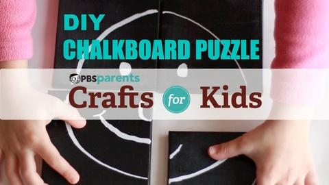 Crafts for Kids -- Chalkboard Canvas Puzzle