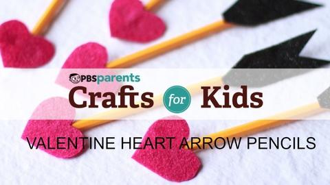 Crafts for Kids -- Valentine's Day Pencils
