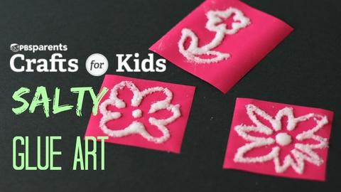Crafts for Kids -- Sensory Salt and Glue Art