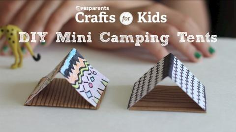 Crafts for Kids -- DIY Mini Tents