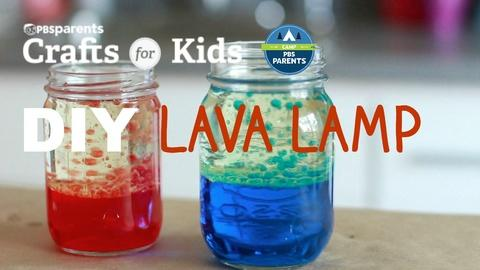 Crafts for Kids -- DIY Lava Lamp