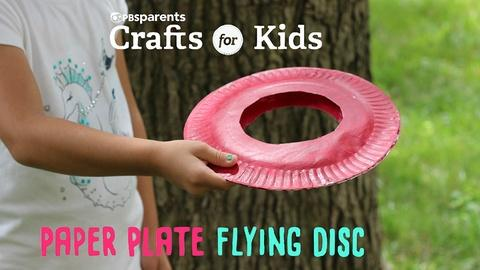 Crafts for Kids -- Paper Plate Flying Disc