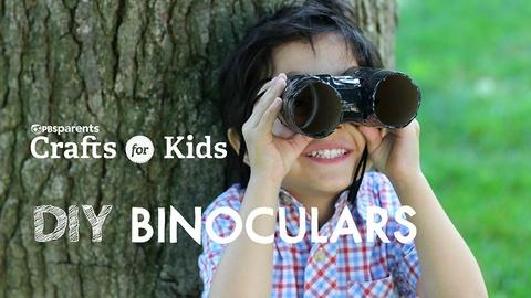 Crafts for Kids -- DIY Binoculars