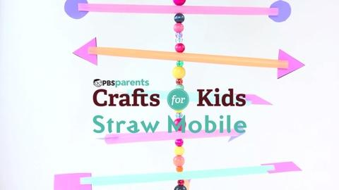 Crafts for Kids -- Straw Mobile