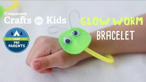 Crafts for Kids -- Glow Worm Bracelet