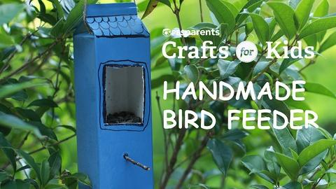 Crafts for Kids -- DIY Bird Feeder