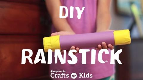 Crafts for Kids -- DIY Rainstick