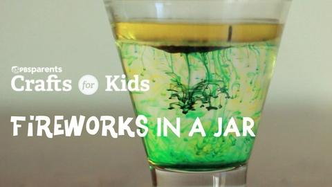 Crafts for Kids -- DIY Fireworks in a Jar