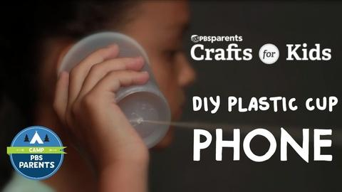 Crafts for Kids -- DIY Plastic Cup Phones
