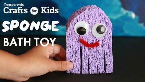 Crafts for Kids -- DIY Sponge Bath Toy