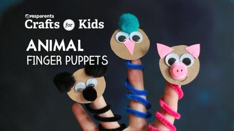 Crafts for Kids -- DIY Animal Finger Puppets