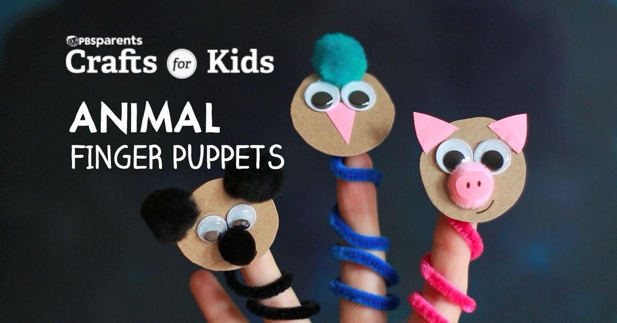 diy animal finger puppets crafts for kids pbs