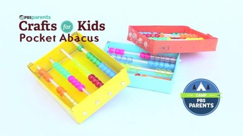 Crafts for Kids -- Pocket Abacus
