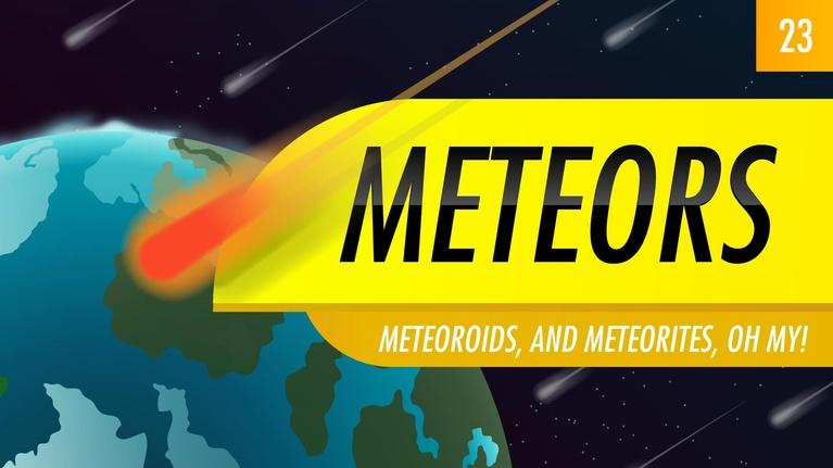 Crash Course Astronomy: Meteors: Crash Course Astronomy #23
