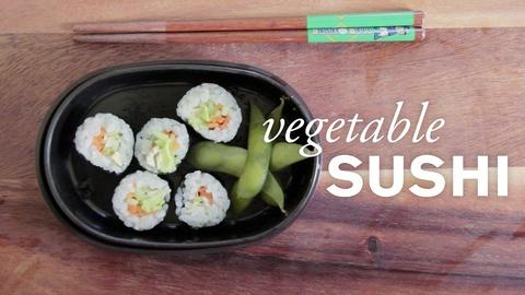 Farm to Table Family -- Vegetable Sushi