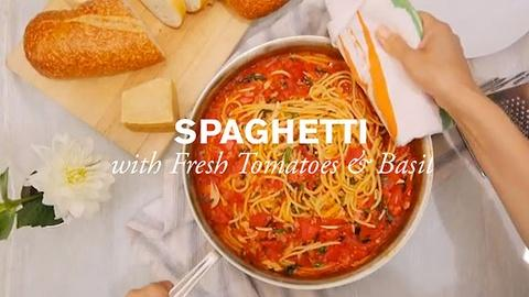 Farm to Table Family -- Spaghetti with Tomatoes and Basil