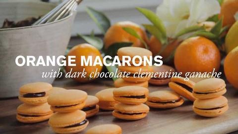 Farm to Table Family -- Orange Macaron with Dark Chocolate Ganache