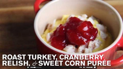 Farm to Table Family -- Baby Thanksgiving: Corn Purée, Cranberry & Turkey