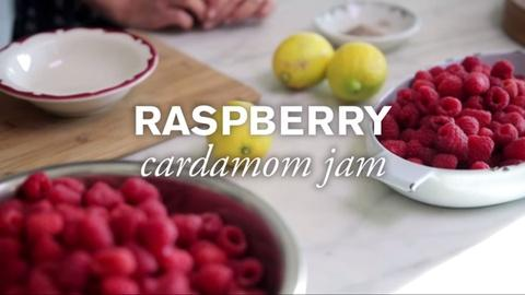 Farm to Table Family -- Homemade Raspberry Cardamom Jam