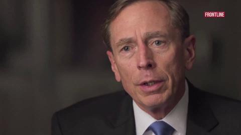 FRONTLINE -- S32 Ep15: Exclusive: David Petraeus Explains His Bold Move