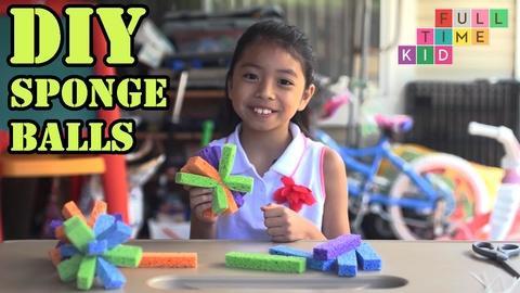 Full-Time Kid -- DIY Sponge Balls