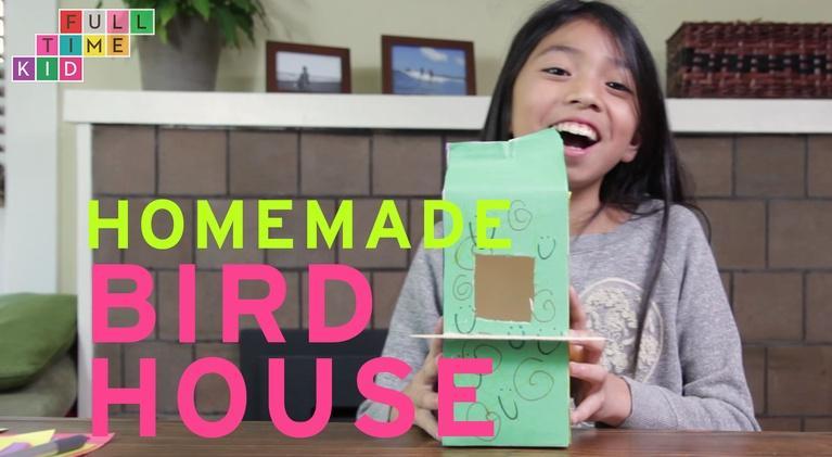 Full-Time Kid: Homemade Bird House