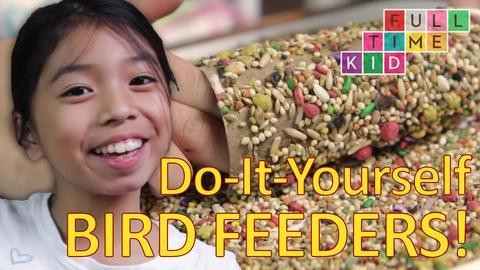 Full-Time Kid -- Easy DIY Bird Feeders!