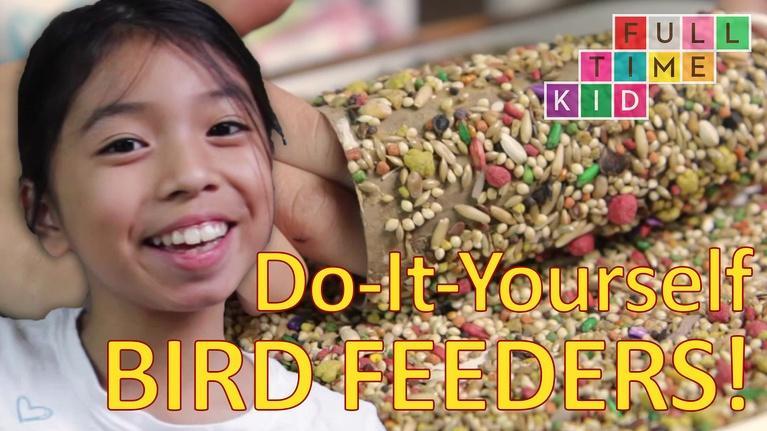 Full-Time Kid: Easy DIY Bird Feeders!