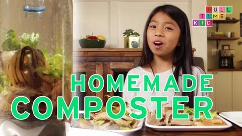 Full-Time Kid -- How to Make a Kitchentop Composter