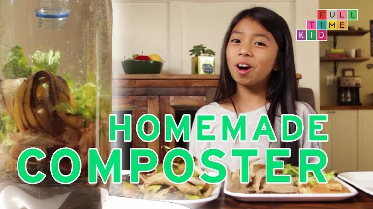 Full-Time Kid: How to Make a Kitchentop Composter