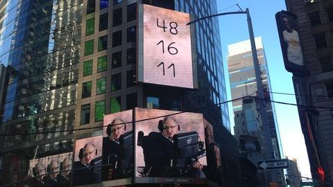 Genius by Stephen Hawking -- Hawking in Times Square