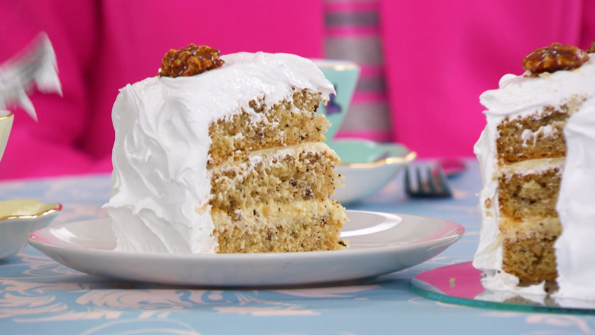 Walnut Cake British Baking Show
