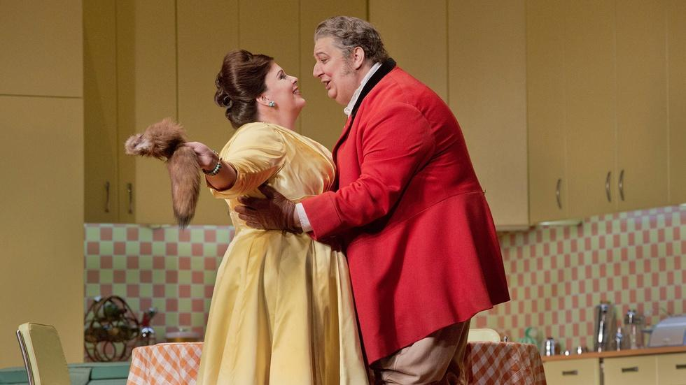 "Love in the Kitchen in Act II of Verdi's ""Falstaff"" image"