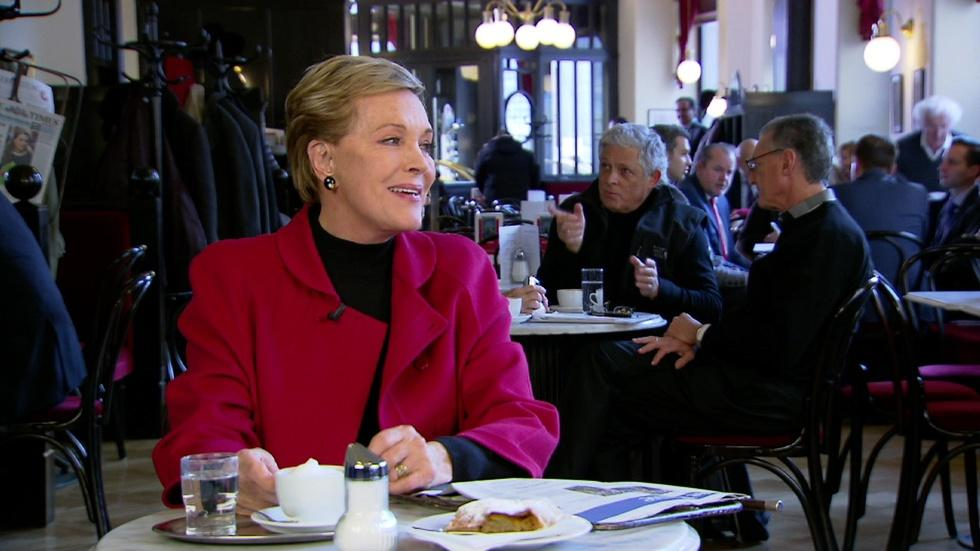 Julie Andrews Visits a Coffee House in Vienna image