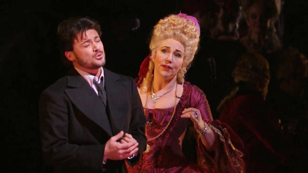 Vittorio Grigolo and Christine Rice in Les Contes d'Hoffmann image