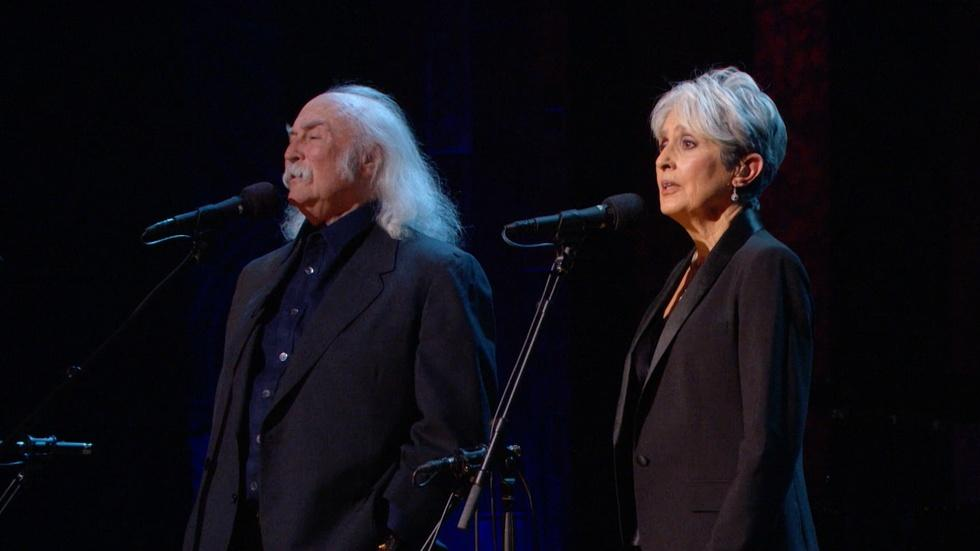 Joan Baez and David Crosby Sing 'Blackbird' image