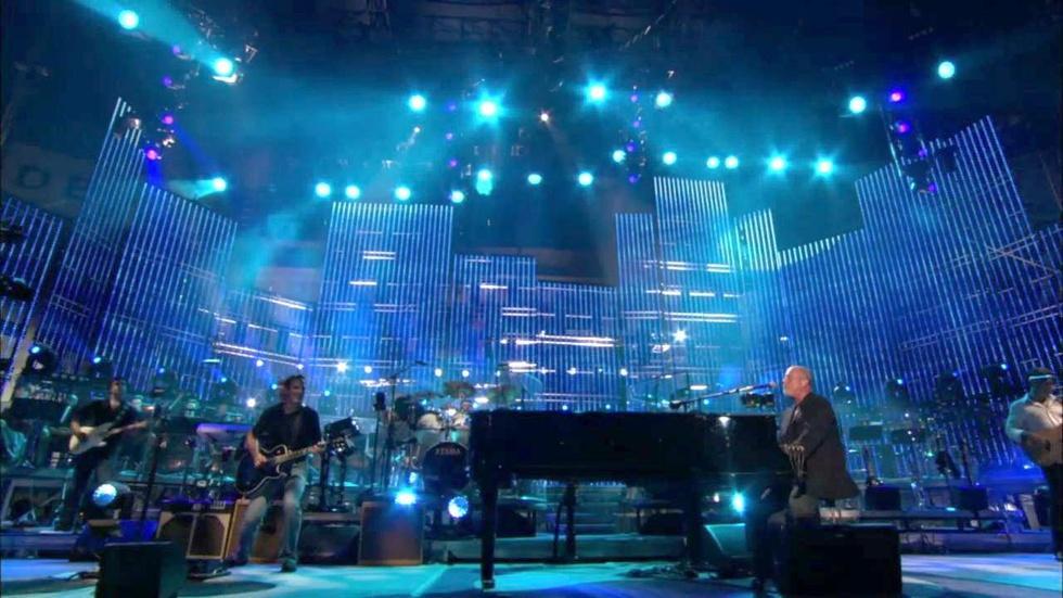 "Billy Joel performs ""Captain Jack"" at Shea Stadium image"