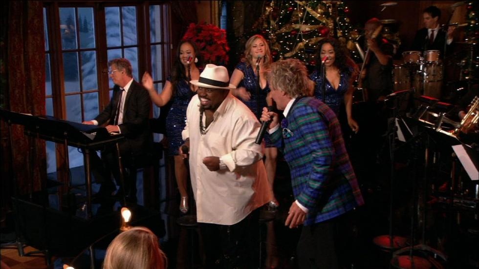 "Rod Stewart and Cee Lo Green: ""Merry Christmas, Baby"" image"