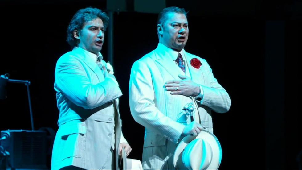 Jonas Kaufmann and René Pape in Faust image