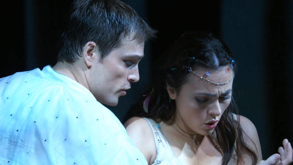 "Isabel Leonard and Alek Shrader in ""The Tempest"" image"