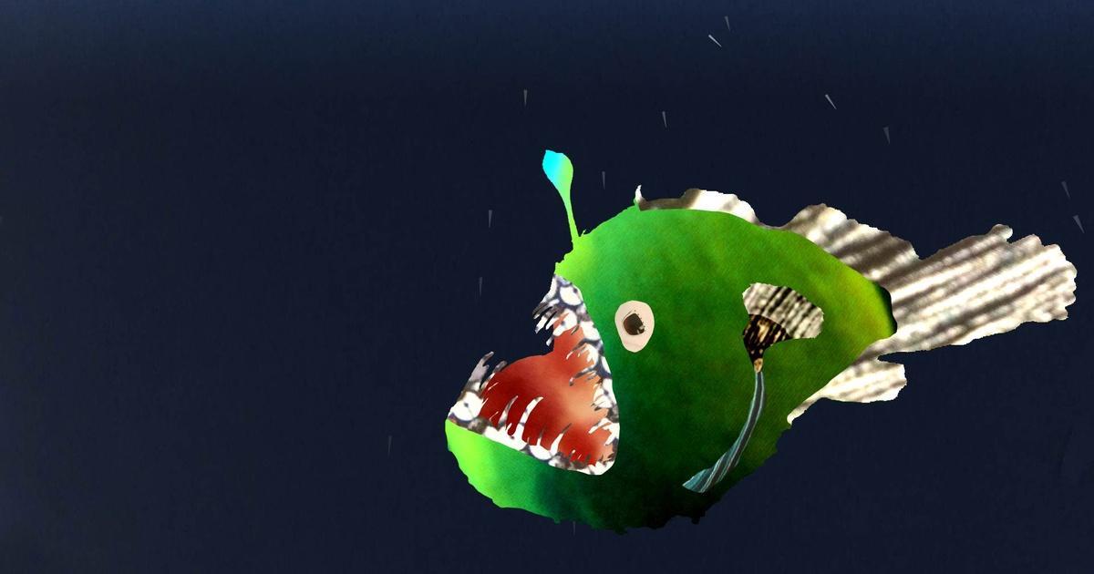 deep sea creatures anglerfish - HD1920×1080