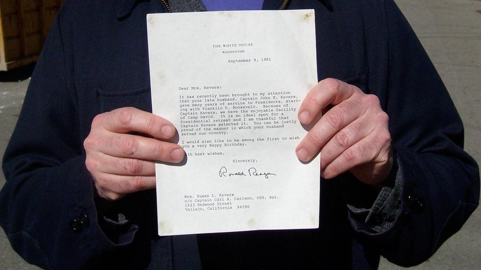 Camp David Letter image