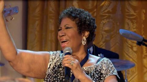 "In Performance at The White House -- Aretha Franklin Performs ""Amazing Grace"""