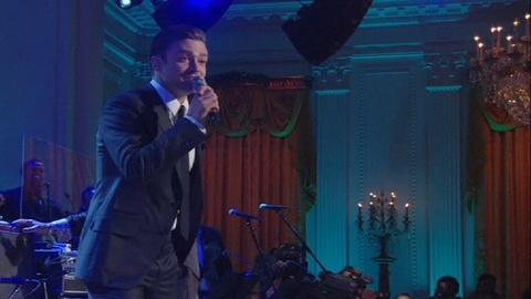 "In Performance at The White House -- Justin Timberlake ""Sitting on the Dock of the Bay"""