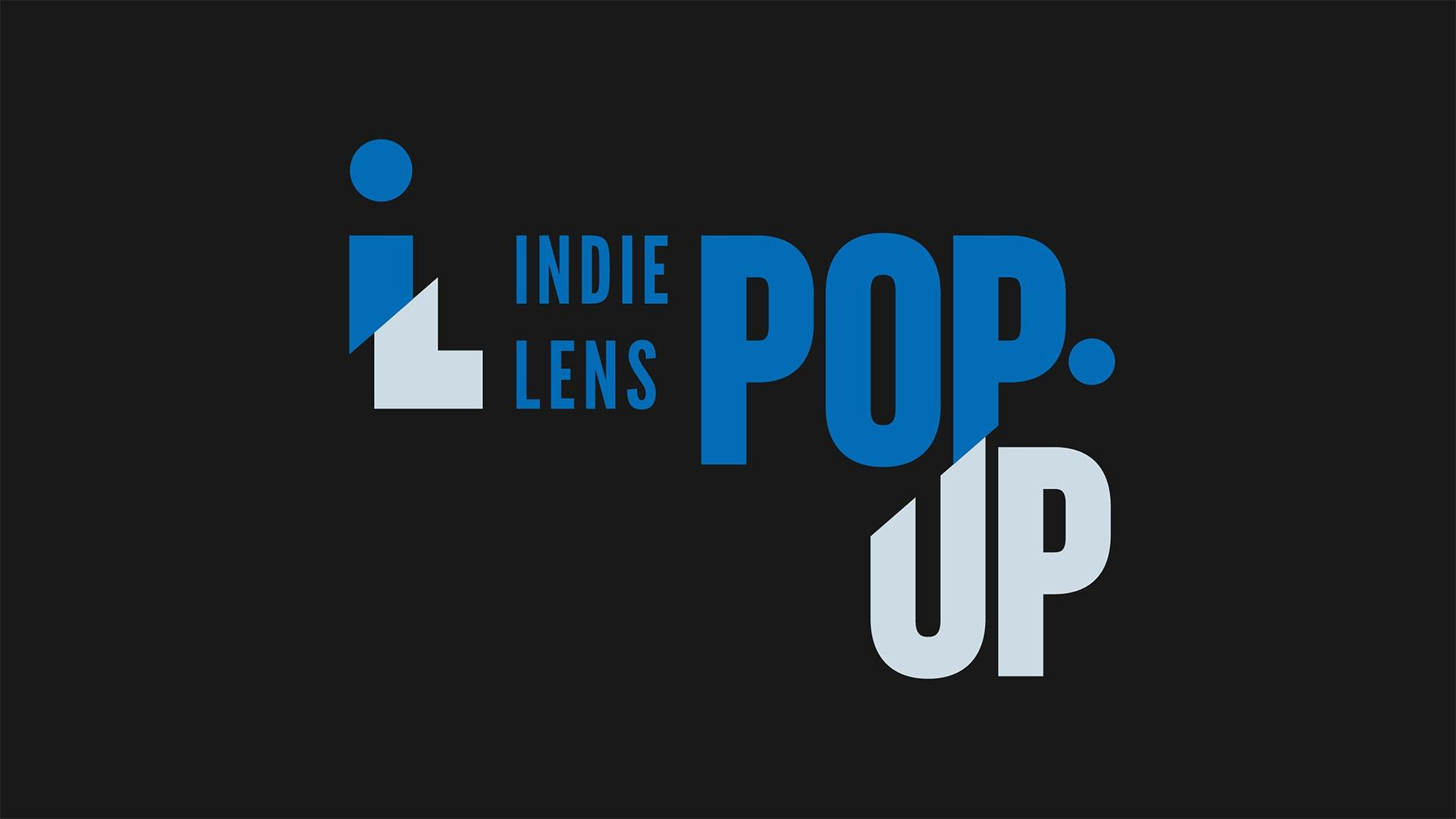 Indie Lens Pop Up logo in blue and gray sans-serif type.