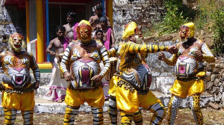 India - Nature's Wonderland: Tiger Dance Painting